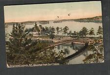1911 post card Little Lehigh Sport Island Thousand Islands/Houston TX to Clay IA