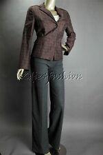 $1495 New AKRIS Punto Brown Mocca Circle Large Polka Dot Jacket Coat 8 38