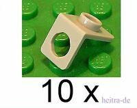 LEGO - 10 x Winkelhalter 1x1 hellgrau / Konverter / Neck Bracket / 42446 NEUWARE
