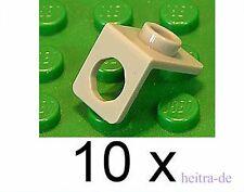 LEGO - 10 x Winkelhalter 1x1 hellgrau / Neck Bracket / 42446 NEUWARE