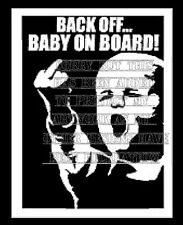 Vinyle Rude Funny BACK OFF Baby On Board Sign Décalque Sticker Tinted Privacy glass