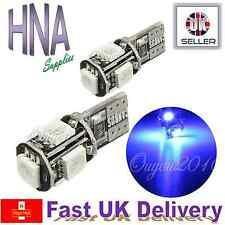 2 X Canbus Libre De Error 5 SMD LED 501 T10 W5W Azul Xenon Luz Lateral Interior Reino Unido C