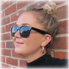 Classic BLACK UV400 Sunglasses Lens Mens Ladies 80s Womens Retro Vintage Fashion