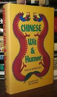 Kao, George CHINESE WIT & HUMOR  1st Edition Thus Later Printing