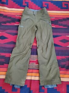 Patagonia Snowshot Pants SZ S,  Green, It has some stains & a little hole