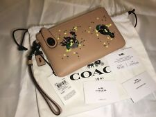 Coach 1941 Collection 58733 In Nude MeadowLark Sequin TurnLock Wristlet  21