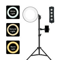 """Zomei LED Ring Light Desktop Photograph lamp with 3 Colors Lighting Mode 6"""" 6W"""