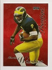 1998 CHARLES WOODSON PRESTIGE *RED* ROOKIE GREEN BAY PACKERS MICHIGAN WOLVERINES