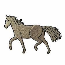 Embroidered Grey Horse Equestrian Animal Sew or Iron on Patch Biker Patch