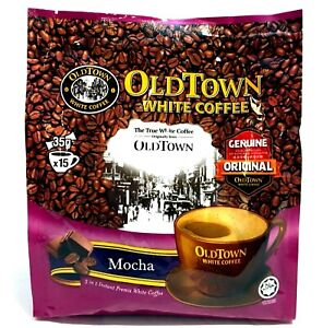 Old Town 3-In-1 Instant Premix Mocha White Coffee 15 Sticks x 35 g ( Pack of 3 )