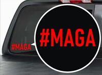 2 TRUMP #MAGA Decals | Bumper Window MAGA Stickers | MAKE AMERICA GREAT AGAIN