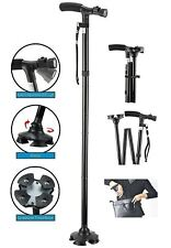 LED Folding & Extendable Cane Adjustable Walkers Walking Stick Outdoor Sports