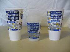 Wilmington Blue Rocks Collectors Cups  - 2008 & 2009 Schedules - Lot of 3 - NICE