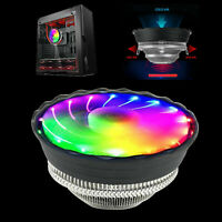 New RGB LED Heatsink Cooling Fan Silent CPU Cooler LGA 1150/1151 AMD For In F5X3