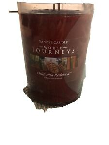 Yankee Candle 'CALIFORNIA REDWOOD' World Journeys 20 oz 2 wick Candle RARE
