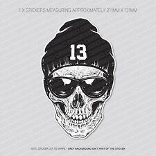 Skull With Beanie Sticker Decal - Car - Laptop - Macbook - Notebook - 5887