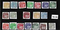 #5118     Complete stamp set / Newspaper WWII Third Reich Occupation 1930s & 40s