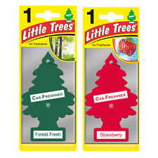 2 x Magic Tree Little Trees Car Air Freshener Scent FOREST FRESH +STRAWBERRY