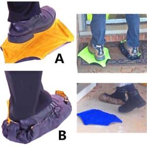 Step In Sock Hands Free Shoe Covers Reusable Shoe Boot Cover Durable Portable Au