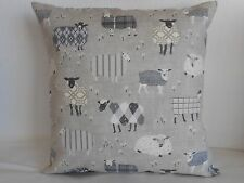 "'BAA BAA' SHEEP DESIGN COTTON CUSHION COVER 17""/43cm Grey, Stone, Black, White"