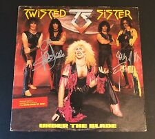 TWISTED SISTER Autographed Signed Under The Blade LP JJ French Eddie Ojeda