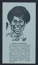 1974 Little Caesars Pizza SPORTS STARS -CHARLIE SANDERS (Detroit Lions) *Tough*