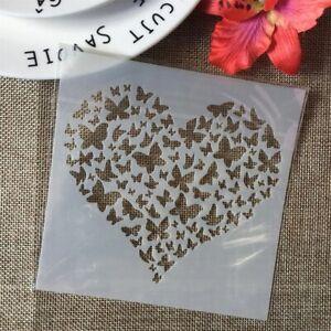 Heart Hearts Butterfly Butterflies Stencils Paint Plastic Stencil Reusable Mylar