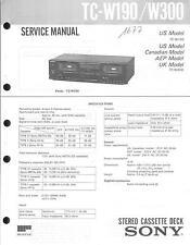 Sony original Service Manual para TC-W 190/W 300