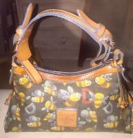 Dooney and Bourke bumble bee Purse Rainbow Zipper Vintage Shoulder Bag