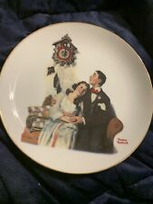 Danbury Mint - Norman Rockwell Young Love Plate Collection, Courting At Midnight