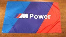 BMW M POWER TRICOLOR FLAG BANNER 3X5FT GARAGE MANCAVE M1 1M M3 M2 M4 M5 M6 M7