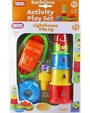 NEW Bathtime Activity Playset Lighthouse Pile Up Bathtime Fun Playset 8 Piece