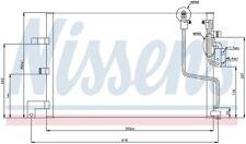 A/C Condenser Front Nissens 94259 fits 94-98 Saab 900 2.0L-L4