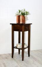 Beistelltisch Blumentisch Blumenhocker 70 cm Holz massiv braun nussbaum Farbe