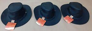 Lot of 3 Kakadu Leather Bush Ranger Hats - Size L
