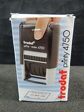 TRODAT 4750 PRINTY DATER, SELF INKING STAMPER