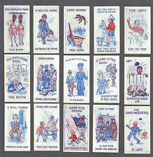 CIGARETTE CARDS. Bocnal Tobacco. PROVERBS UP TO DATE. (1938). (Complete Set 25).