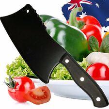 Black Chopper Cleaver Chopping Kitchen Knife Cutlery Knives Steel HKIKN 9511
