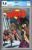 Warp #5 CGC 9.8 White Pages 1983 3721897003 1st Grimjack, Russo Brothers Movie