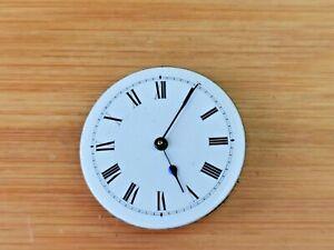 Antique Key Wind Swiss Cylinder Pocket Watch Movement, Working, Good Dial/Hands
