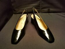 "LN~ Worthington ~7M~ Tabitha Black Patent Leather Slingback PUMPS 2 1/2"" HEELS"