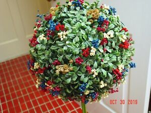 Large hand-made boxwood and dried flower kissing ball