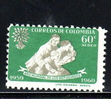 COLOMBIA #C371   1960  WORLD REFUGEE  YEAR   MINT   VF NH  O.G