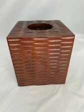 Wooden Cube Tissue Box Cover Farm house country
