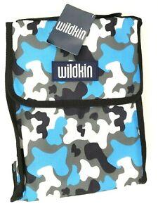 Wildkin Lunch Bag Blue Camo Insulated