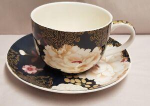 Maxwell & Williams Kimono Pattern Fine Ceramic Cup & Saucer c2011-15 300ml