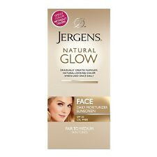 Jergens Natural Glow FACE Daily Moisturizer Sunscreen, Fair to Medium Tone 2 Oz