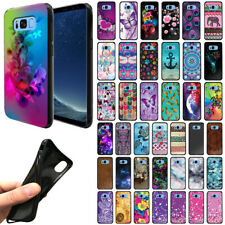 For Samsung Galaxy S8+ Plus G955 Flexible TPU Black Silicone Soft Gel Cover Case