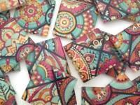 Patterned Handmade Glass Tiles 2.5cm - No. 23 (HM) - Mosaic Tile Supplies Art