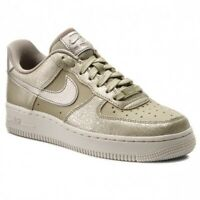 Nike Womens Air Force 1 '07 PRM Fabric Low Top Lace Up Fashion, Gold, Size 8.0
